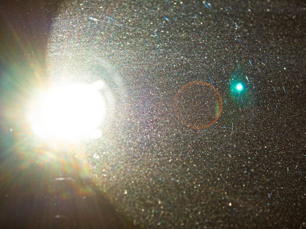 Dust in a projector's glow