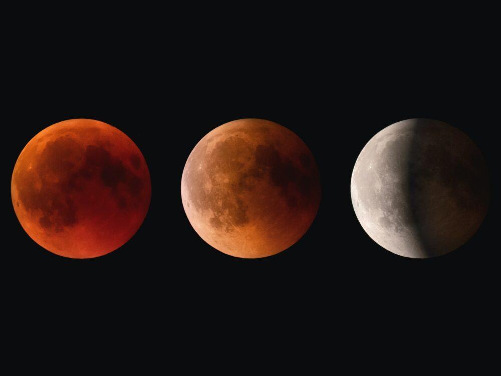 Lunar Eclipse Phases. Photo by Claudio Testa (https://unsplash.com/photos/sIglh0SISjo)