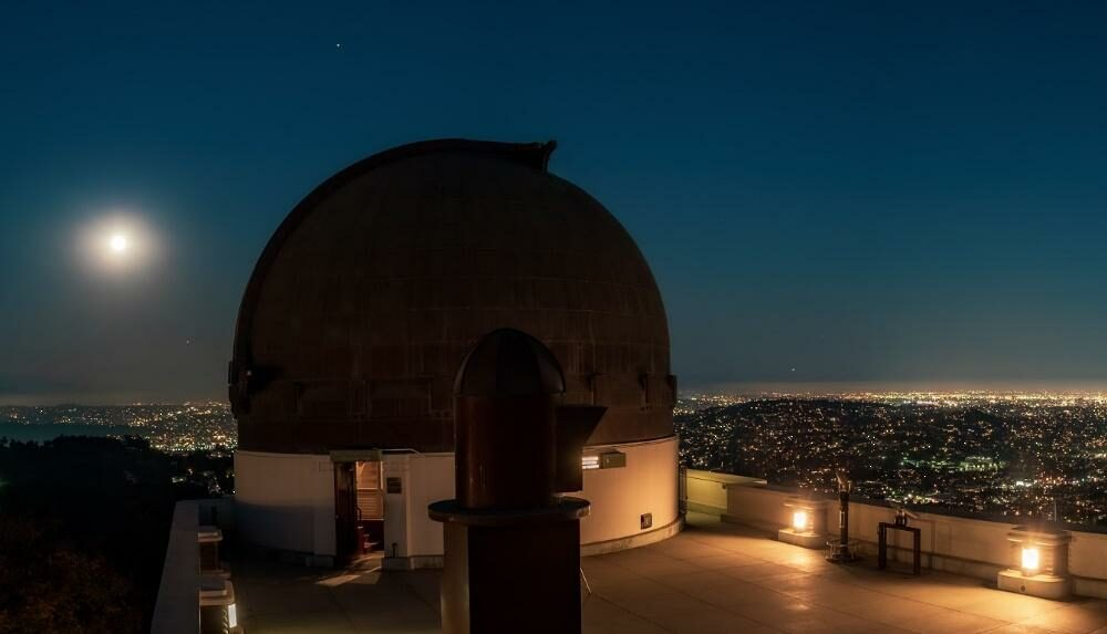 Observatory at night